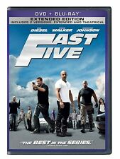 NEW Fast Five Blu-ray+DVD+Digital Copy PART 5 2-Disc Set Vin DIESEL Paul Walker