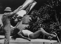 1980 Vintage Matted HELMUT NEWTON Movie Actress RAQUEL WELCH Art 14x11