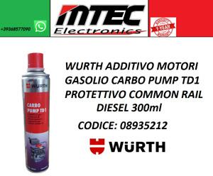 WURTH ADDITIVO MOTORI GASOLIO CARBO PUMP TD1 PROTETTIVO COMMON RAIL DIESEL 300ml