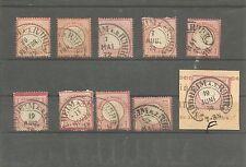 Timbro ferro di cavallo/Mulheim A. D. Ruhr mai ferro di cavallo TIMBRO Dr 2 x 3, 4, 6 x 19