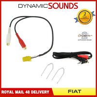 AUX Input 3.5mm Jack Lead Cable Car iPod MP3 Adapter with KEYS for Fiat 500