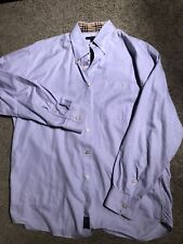 Mens Burberry Shirt Long Sleeve Button Up Size L Nova Check