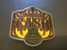 JOHNNY CASH The Man In Black Country Music New BELT BUCKLE New Metal Pewter