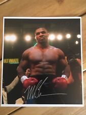Iron Mike Tyson Hand Signed 13x12 Boxing Photo PROOF