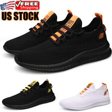 New listing Comfortable Men's Mesh Breathable Low Top Non-slip Damping Walking Sneakers Shoe