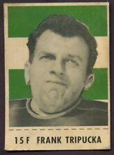 1956 CFL Shredded Wheat WITH TAB # 15 F Frank Tripucka SASKATCHEWAN ROUGHRIDERS