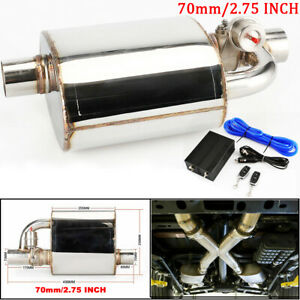 """New Exhaust Muffler Resonator 2.75"""" Inlet Outlet Pipe+Cutout Valve Remote Contro"""