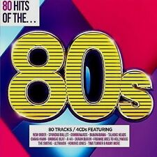NEW ; VARIOUS: 80 HITS OF THE 80's. 4xCD DIGI-PAK WILL MAKE GR8 GIFT. BRILLIANT.