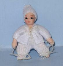 PORCELIAN BABY DOLLHOUSE MINIATURE PEOPLE
