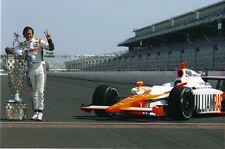 Dan Wheldon 2011 Indianapolis 500 Champion Trophy 8x10 Photo Indy Racing HERTA