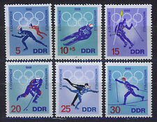 Alemania/RDA East Germany 1968 MNH sc.977/81+b146 Olympic Games Grenoble