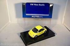 AUTOART AUTO ART 59733 VW VOLKSWAGEN NEW BEETLE YELLOW MIB RARE SELTEN!!!