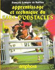 Saut d'obstacles Apprentissage Technique EQUITATION CAVALIER Lemaire de Ruffieu