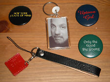 Billy Joel ultra rare Collector Pins 3 button pins 1 Keychain and 1 camera strap