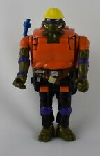 Vintage 1994 TMNT Mighty Mutations Construction Donatello Transforms Bulldozer