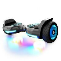 Swagtron Warrior T580 Hoverboard Bluetooth E-scooter Music-Synced W/ LED Wheels