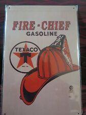 texaco fire chief gasoline tin metal sign MAN CAVE brand new