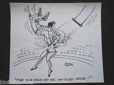 """Clifford C Lewis """"angolo di scotta"""" Originale Penna E Inchiostro CARTONE ANIMATO-Meryl Streep sta Sexy Acrobat #66"""