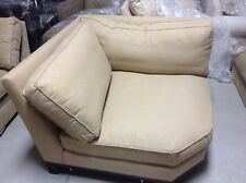 Pottery Barn Seabury Couch Sectional Sofa Caramel Basket Weave WEDGE corner