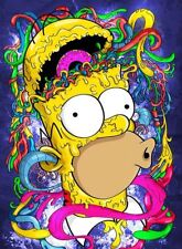 The Simpsons Homer Simpson Psychedelic Trip #2 Bumper Sticker or Fridge Magnet