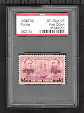 US @ 792 (1937) 3c - PSE Graded: XF/S95 - Mint OGnh (Encapsulated) Admirals