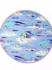 "Vineyard Vines for Target Island Scene 60"" Round Beach Towel Blue Nwot"