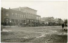 RPPC Wisconsin Clinton Main Street Dirt Street Covered Buggys