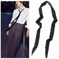 Women Skinny Scarf Extra Long Slim Belt Tie Plain Ribbon Choker Neck Quality