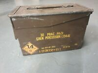 Genuine British Army 50 Cal Ammo Box Tin Ammunition Storage Military Surplus UK