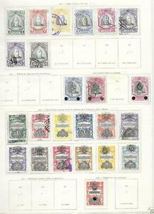 Salvador stamps 1906 Collection of 24 CLASSIC stamps HIGH VALUE!