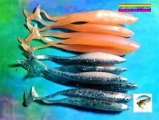 12 Señuelos 2 Colores Super Fluke 11cm Pesca Black Bass Soft Lures Bait