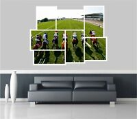 Huge Collage View Horse Racing Wall Stickers Mural Decal Wallpaper 290