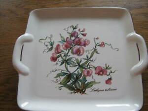 "Villeroy & Boch  Botanica Platte eckig ""Lathyrus tuberosus"" 23 x 20,5 cm,"