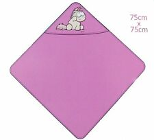 NICI Badetuch mit Kapuze 75x75cm Bade-Poncho 100% Baumwolle für Babys und Kleink