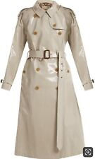 NWT $2395 Burberry Eastheath COATED COTTON TRENCH RAIN COAT JACKET STONE 10 US