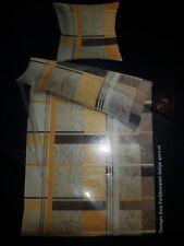 Neues Mesana Baumwoll Satin Bettwäsche Set AVA 135x200 cm Beige/Apricot Paisley