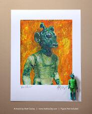 Star Wars GREEDO Vintage Kenner Action Figure ORIGINAL ART PRINT 3.75
