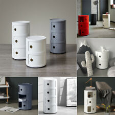 2-5 Drawer Tiers Round Plastic Storage Cabinet for Bathroom Cupboard Corner Unit