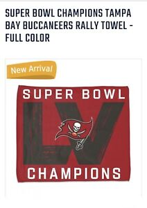 """Super Bowl LV Tampa Bay Buccaneers Rally Towl  15x18"""" NFL"""
