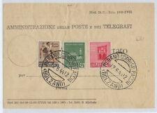 RSI 1944 12 giugno Merano (BZ) mazzo etichettato tariffa c.75 -pt50