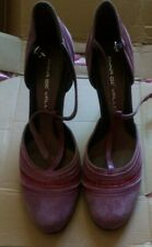 anna de valle dusky pink real suede t bar shoes size 40 uk6-5/ 7