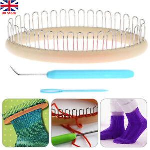 3Pcs Sock Weaving Knitting Loom Craft Tool Set Hat Sleeve Weaver Needle Tool H