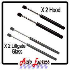 NEW JEEP LIBERTY SET OF HOOD & REAR GLASS LIFT SUPPORTS PROP RODS PAIR