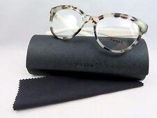 Prada VPR 11R UAO-1O1 White Havana New Authentic Eyeglasses 52mm w/Case