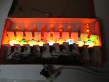 Old 9 Light C-6 Noma Bubble Light Set in Original Girl Box w Cord #5002
