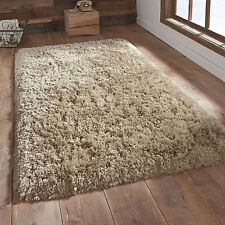BEIGE SMALL X LARGE MODERN 8.5cm SOFT - THICK HIGH PILE LUXURY SHAGGY FLOOR RUGS