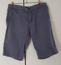 soliver Denim Chino Short incl. Gürtel- Größe 33 - grau/blau - neuwertig