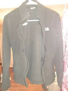 THE NORTH FACE ACTIVE-WEAR ZIP-UP LONG-SLEEVE BLACK WORN ONCE WOMEN'S XS