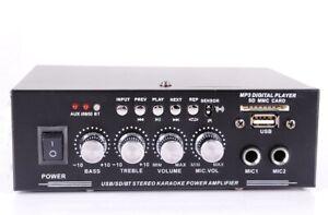 Mini-Verstärker,Fernbedienung,Bluetooth,USB,SD/MMC,Mikrofon,Karaoke,230V+12V