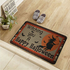 "Soft Cotton & Linen Happy Halloween Printed Rubber backed Doormat 30""X18"""